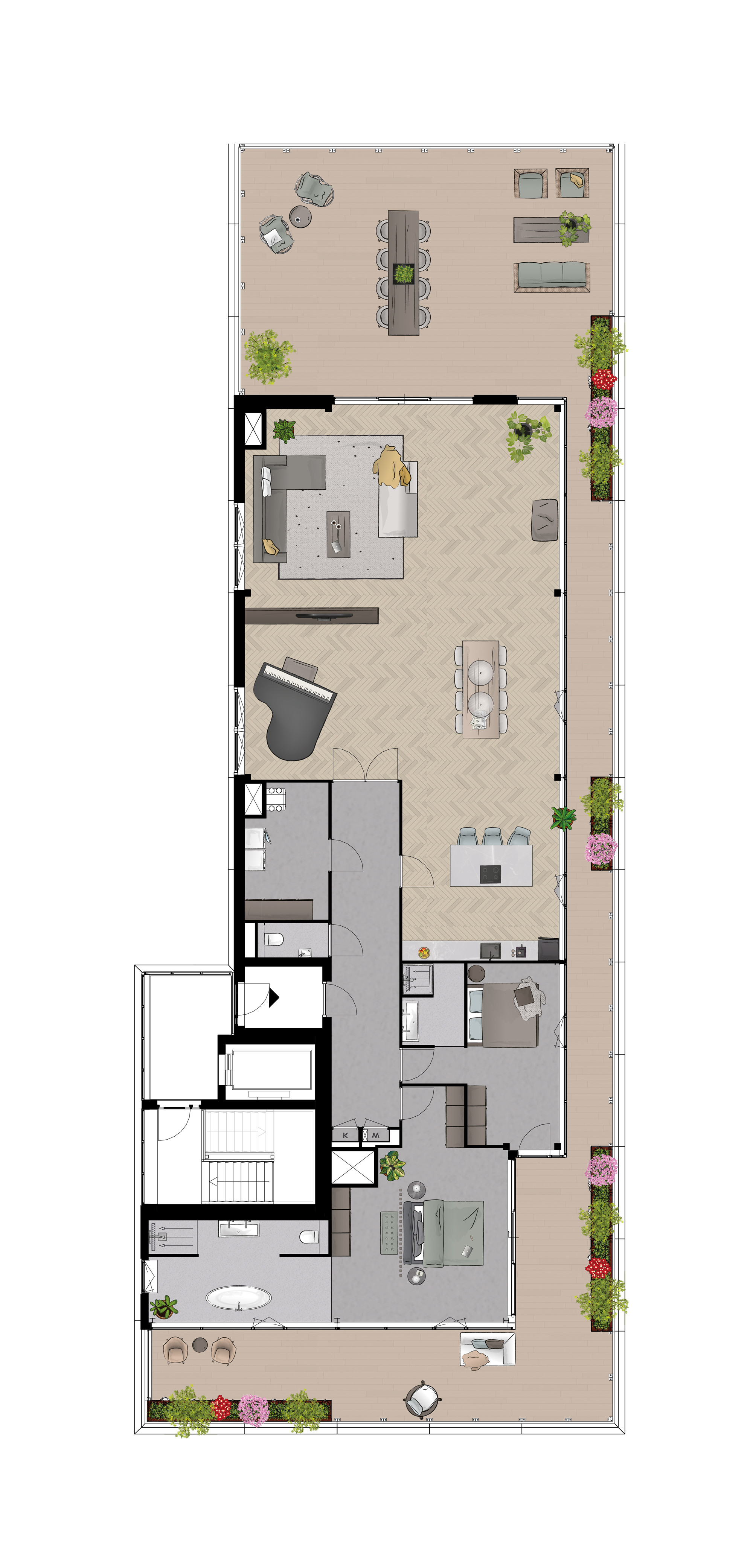 Penthouse vloer map